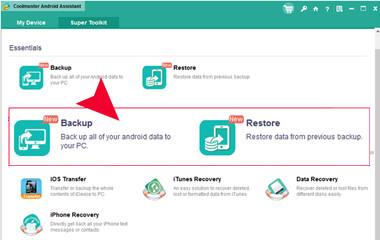 one click backup and restore