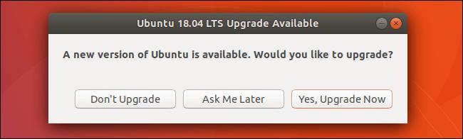 updrage ubuntu