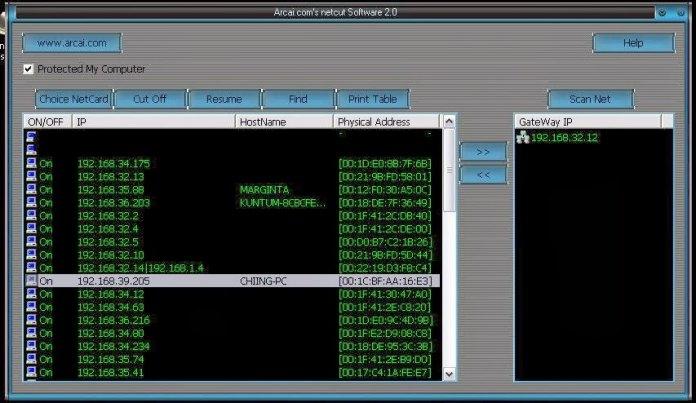 Scanning Ip address result