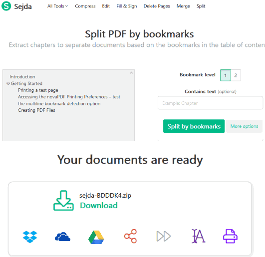 Sejda-split-pdf