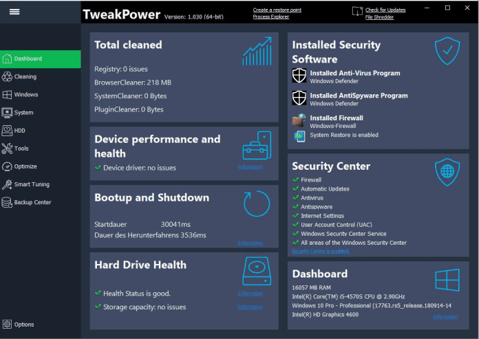 TweakPower Software