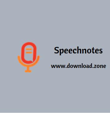 Speechnotes Webapps