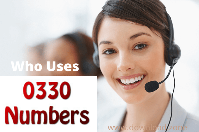 Who Uses 0330 numbers