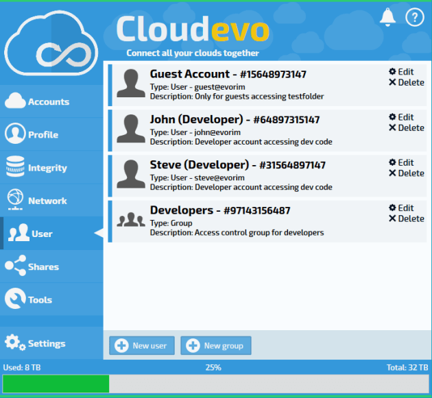 cloudevo-users