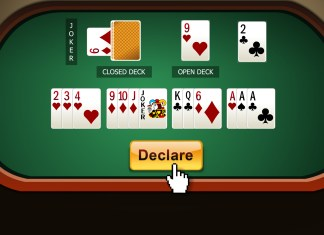push declare button to declare your rummy game