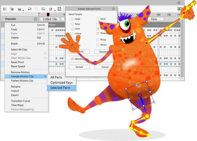 Mocap-Key-Editing