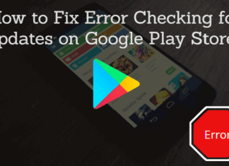 Error Checking for Updates on Google Play Store