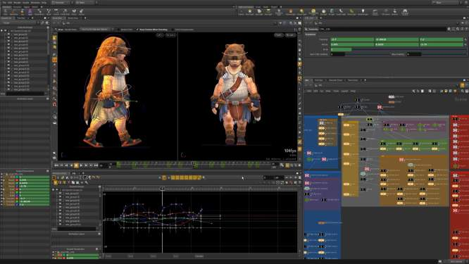 character_houdini_ui_of_3D_graphics_design_software