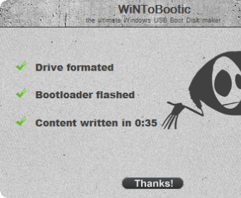 wintobootic usb drive fomatted successfully to create bootable usb drive for Windows