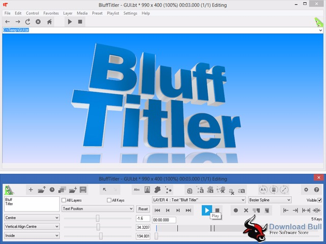 Download BluffTitler 13.2 Portable