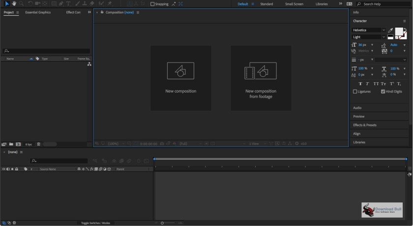Portable Adobe After Effects CC 2018 15.0 Overview