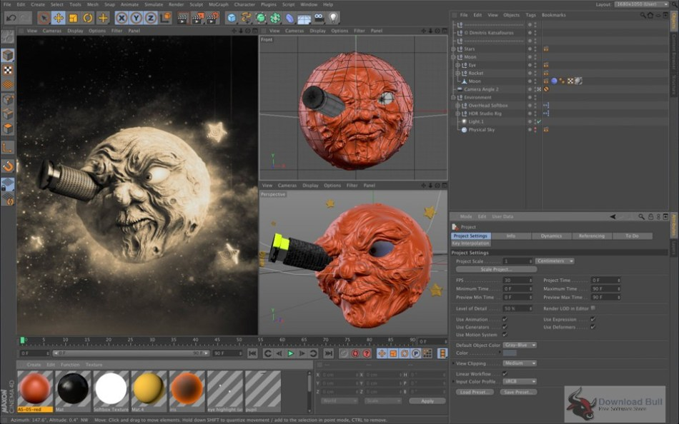 Portable Maxon Cinema 4D Studio R14 Overview