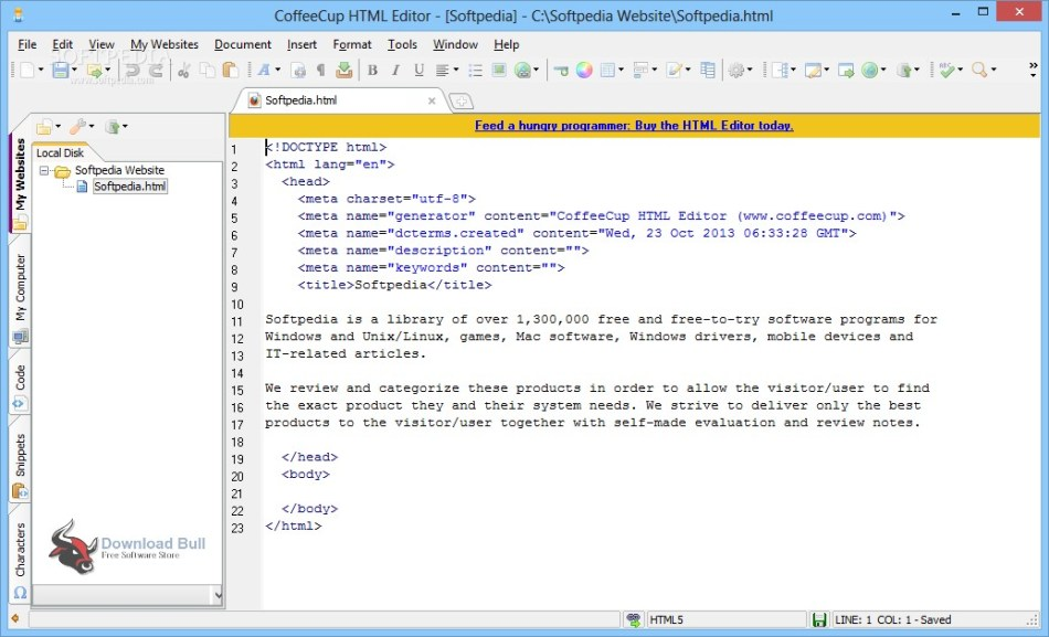 Download Portable CoffeeCup HTML Editor 15.4 Free