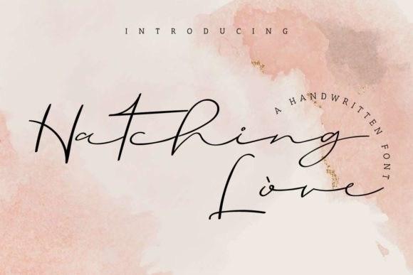 hatching-love-font