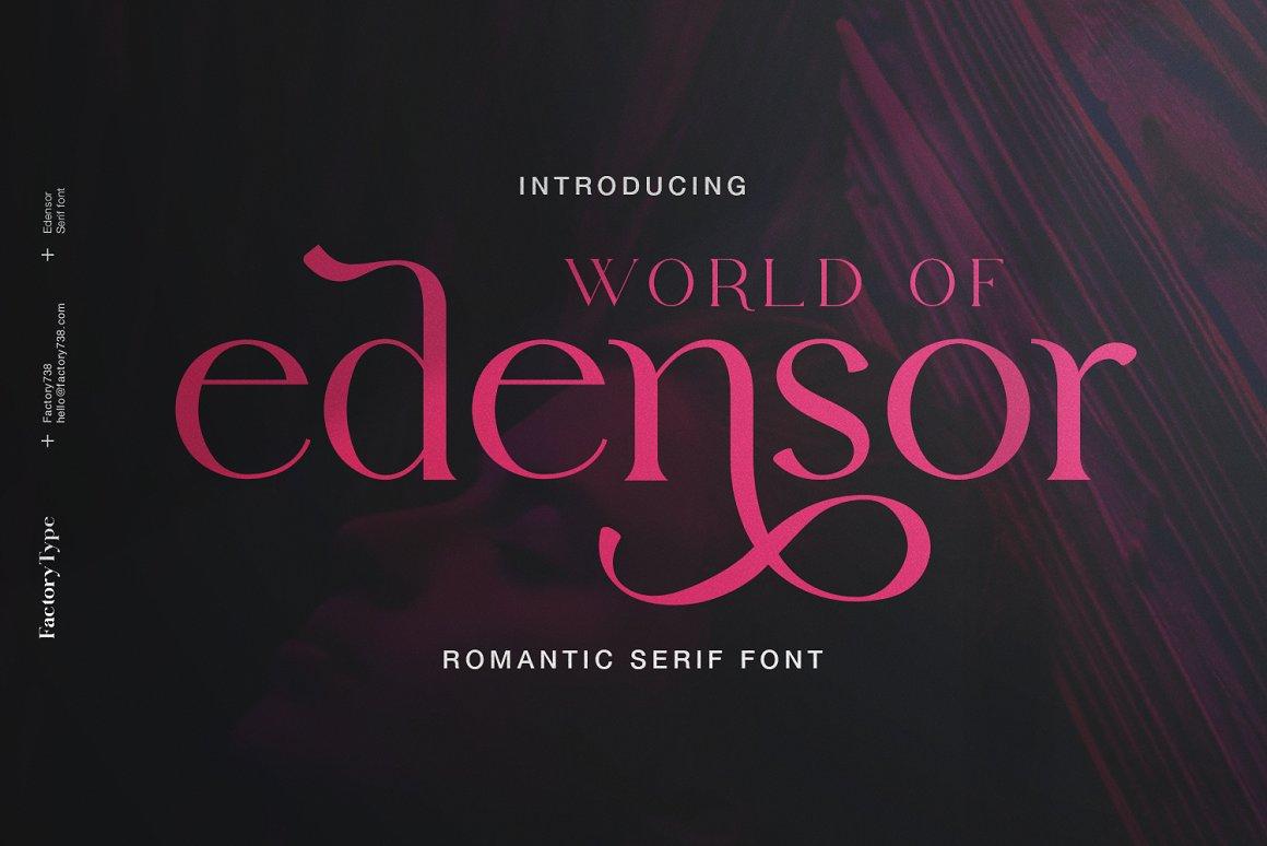 Edensor-Font