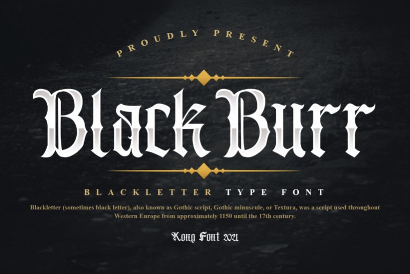 Blackburr-Font