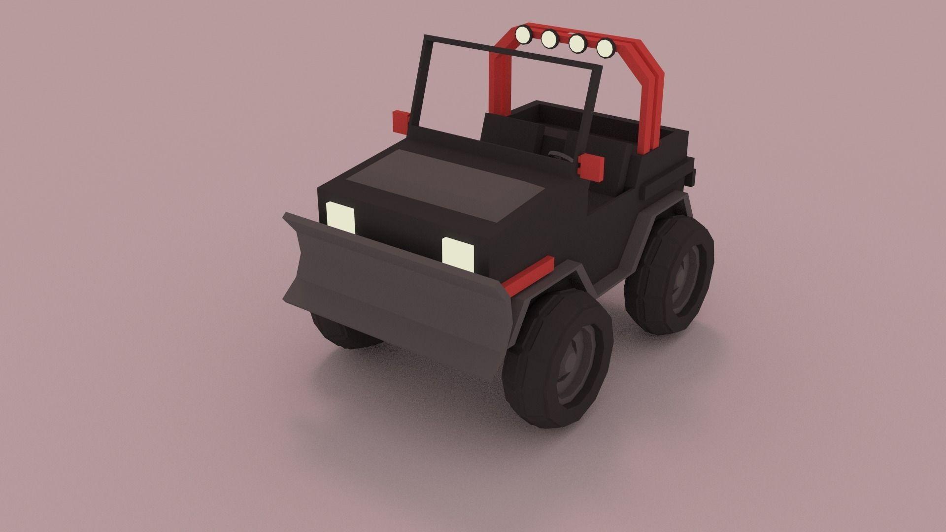 Low Poly Car Free 3D Models