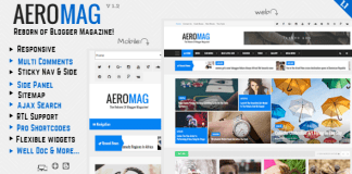 AeroMag v1.1 – Responsive News & Magazine Blogger Template Themeforest Free