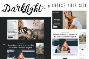 Darklight v1.0.0 - Minimalistic Theme for Writers, Bloggers, Photographers CreativeMarket 1248953