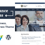 Finance Press v1.2 – Consulting Business, Finance WordPress Theme Nulled Free