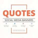 Quotes Social Media Banners CreativeMarket 701659 Free