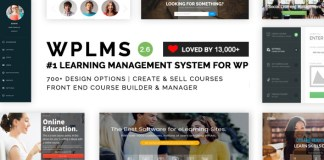 WPLMS v2.6.1 - Learning Management System