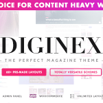 Diginex v1.0.4 – Magazine, Blog, News and Viral WordPress Theme Nulled Free
