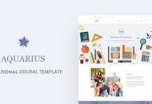 Aquarius - Educational University Drupal Template Free