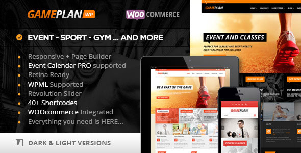 Gameplan v1.5.13.2 - Event and Gym Fitness WordPress Theme