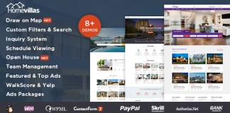 Home Villas v1.2 - Real Estate WordPress Theme Nulled Free