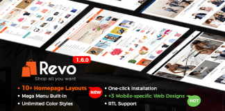Revo v1.6.0 - Multi-Purpose Responsive WooCommerce Theme with Mobile-Specific Layouts