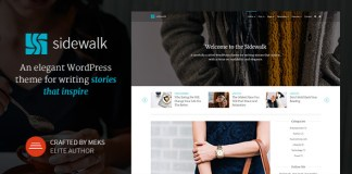 Sidewalk v1.2 - Elegant Personal Blog WordPress Theme | Themeforest
