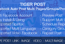 Tiger Post v3.0.2 - Facebook Auto Post Multi Pages/Groups/Profiles Nulled