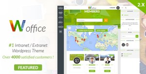 Woffice v2.3.6 - Intranet/Extranet WordPress Theme Nulled Free