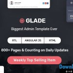 Glade – Admin Template with Angular & Bootstrap   Themeforest