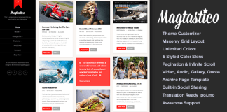 Magtastico v1.4.1 Responsive Masonry Blog WordPress Theme | Themeforest
