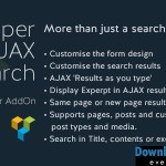 Super AJAX Search Element v1.0.4 | Codecanyon
