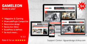 Gameleon v5.5 – WordPress Gaming Arcade Theme Nulled Free