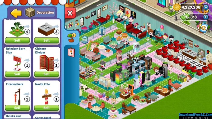Download Cafeland – World Kitchen + (Unlimited Money) for Android