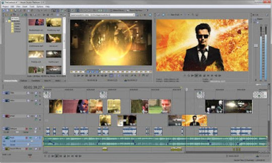 Where can you download Sony Vegas Movie Studio Platinum 13 for free