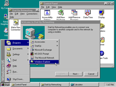 Windows 95 Desktop