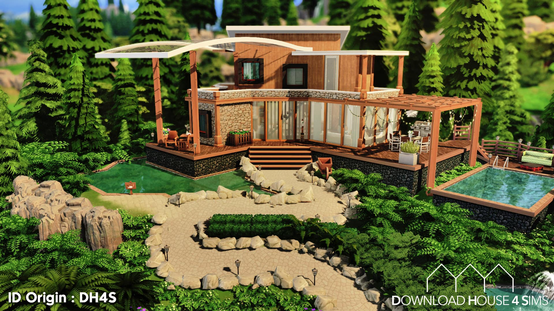 Family Mountain Lodge Maisons Download House 4 Sims