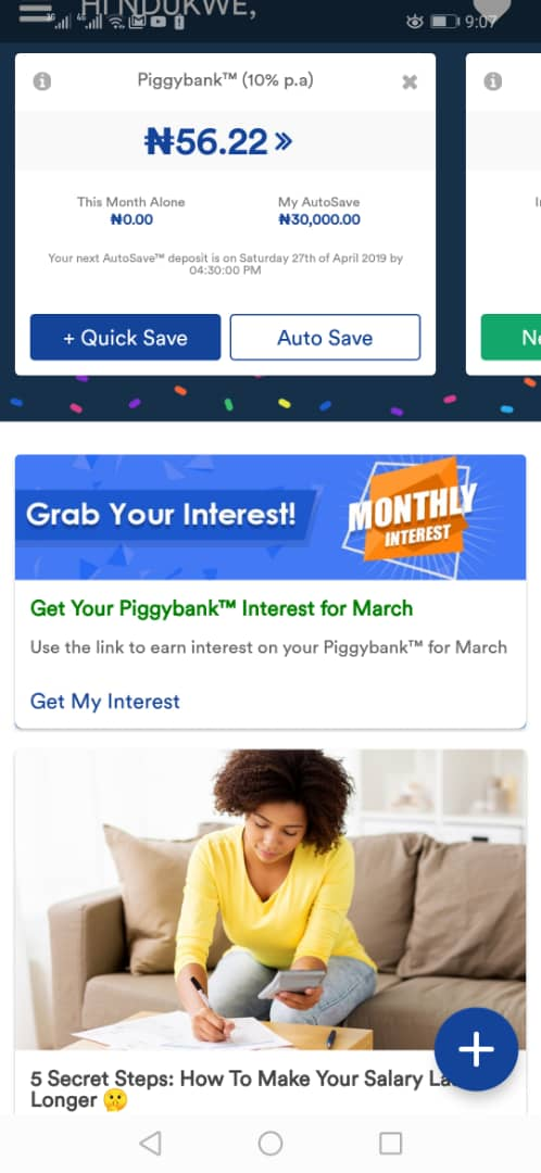 Download PiggyVest Savings Mobile App