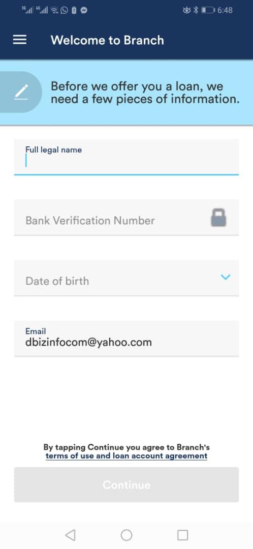 branch personal loan in nigeria, kenya