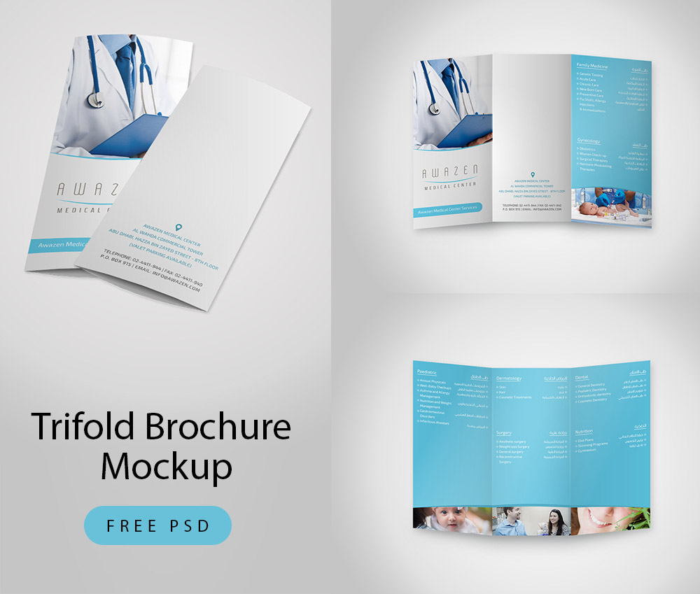 Download Trifold Brochure Mockup Free Psd At Downloadmockup Com