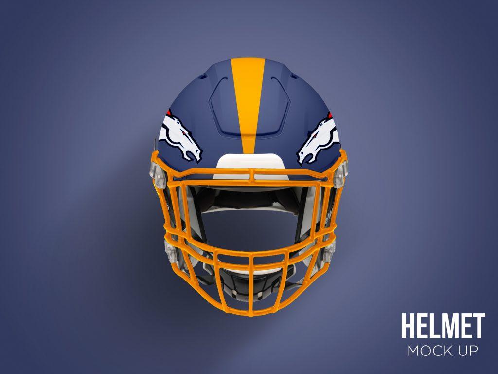 Football Helmet Mockup Free PSD Download Mockup