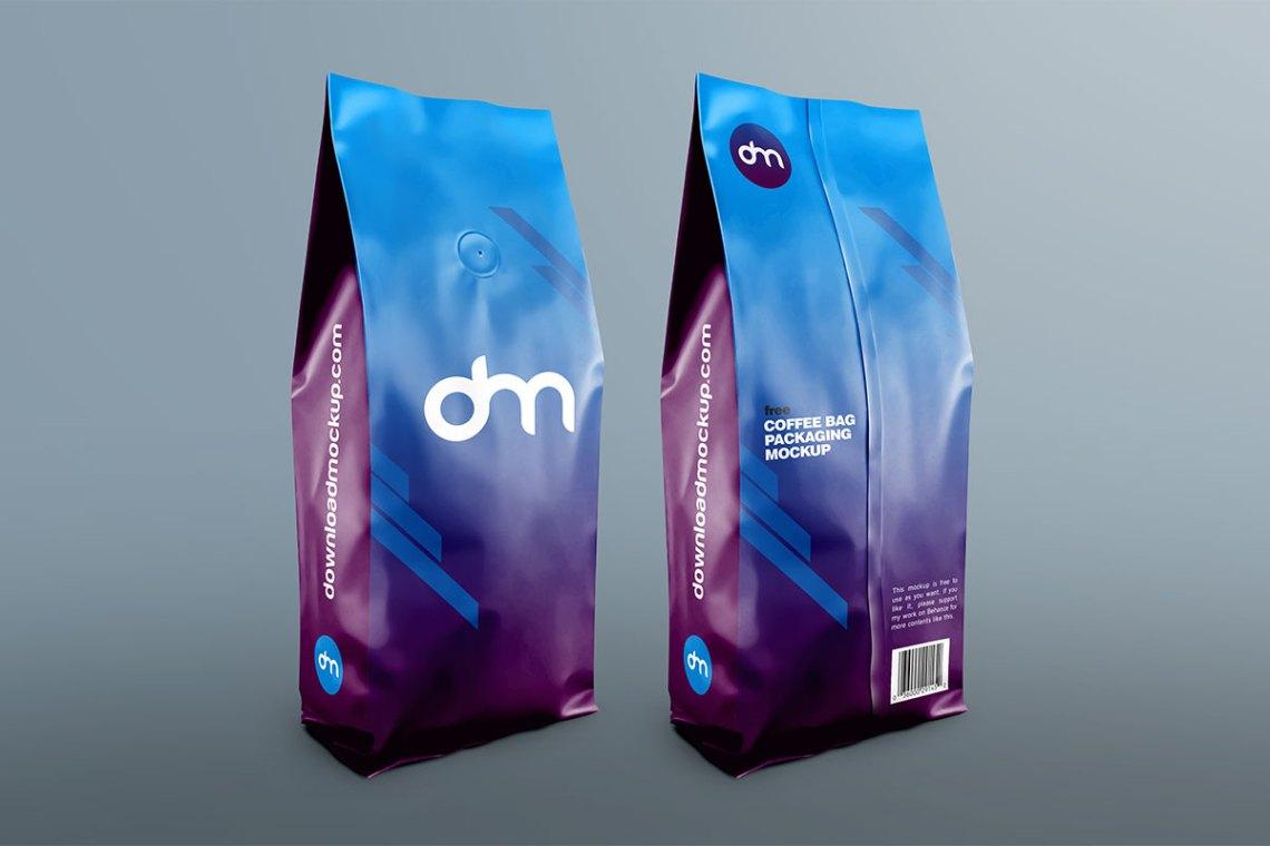 Download Free Coffee Bag Packaging Mockup   Download Mockup