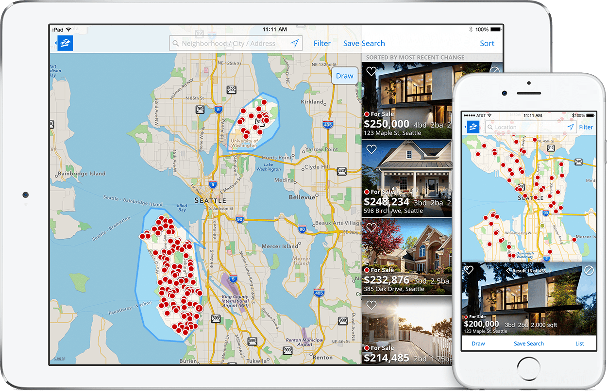 Get The Zillow Real Estate Mobile App to Find Suitable Homes Near You