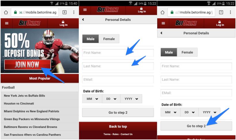 BetOnline Mobile App Download