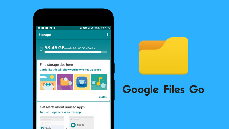 Install Google Files Go Mobile App and take Control of your Pone Storage